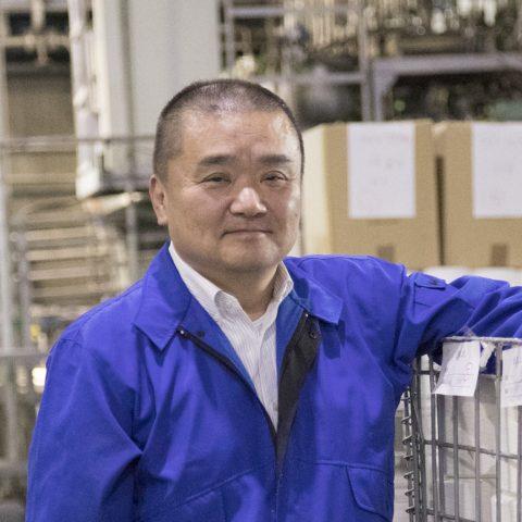 同心染工株式会社 常務取締役工場長 白石郁夫