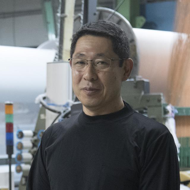 矢野紋織株式会社 工場長 渡辺孝行さん