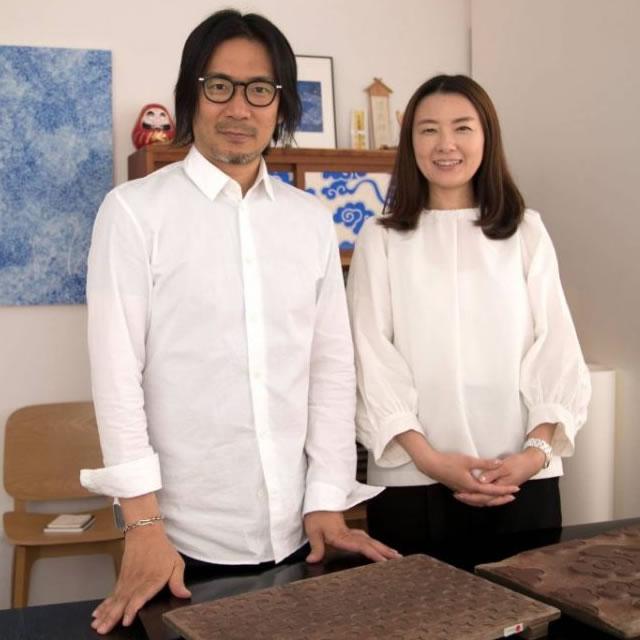雲母唐長(KIRA KARACHO) 唐紙師トトアキヒコさん 唐紙師千田愛子さん