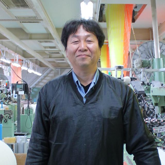 田中産業株式会社 整経製織部門 部門長 山岡浩司さん
